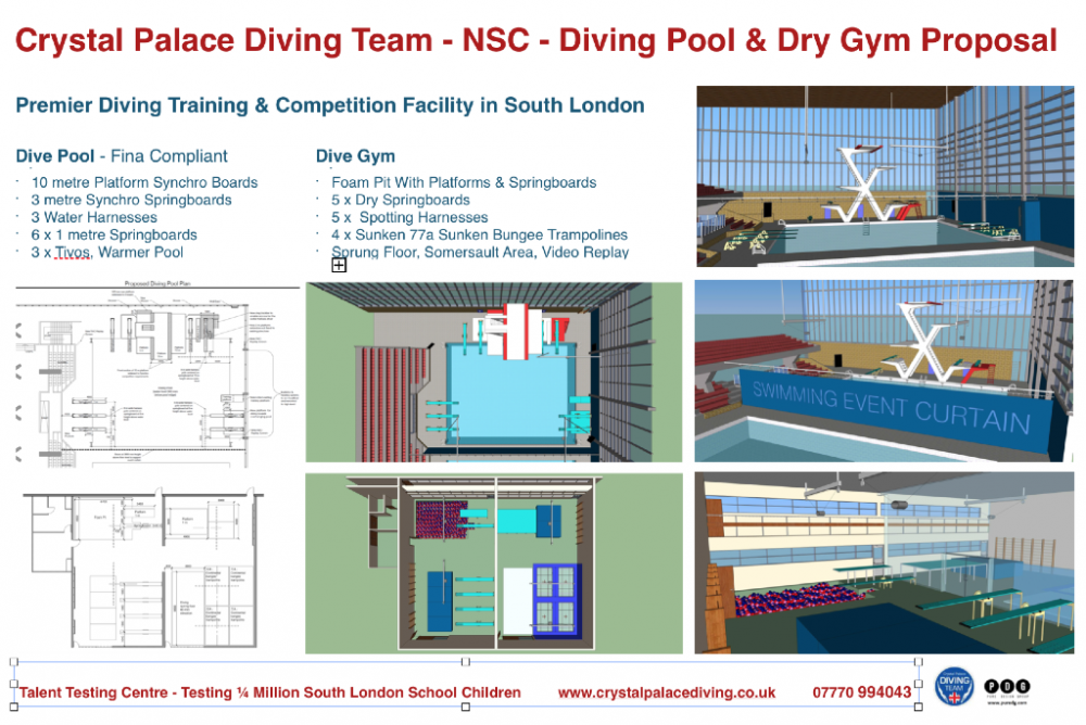 Proposed Improvements To The Diving Pool And Diving Gym At Crystal Palace  National Sports Centre. GLA Officials Meet With The Palace Diving Team Over  ...